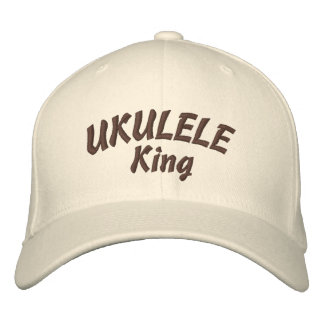 Ukulele-König Embroidered Hat Bestickte Baseballkappe