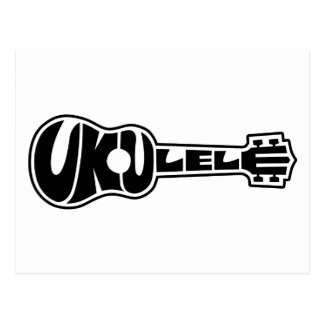 Ukulele-Logo Postkarte