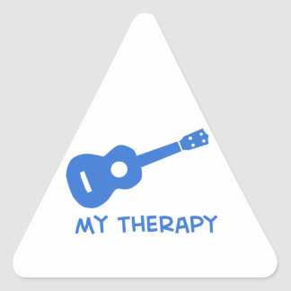 Ukulele meine Therapie Dreieckaufkleber
