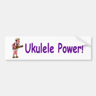 Ukulele-Power! Autoaufkleber
