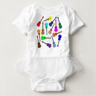 Ukulele-Regenbogen Baby Strampler