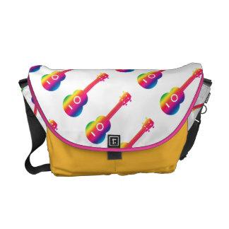 Ukulele-Regenbogen-vibrierende Bote-Tasche Kuriertasche