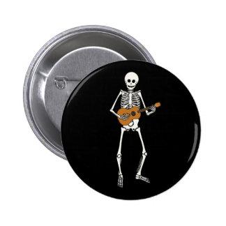 Ukulele-Skelett Runder Button 5,1 Cm