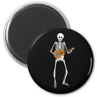 Ukulele-Skelett Runder Magnet 5,7 Cm