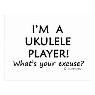Ukulele-Spieler-Entschuldigung Postkarte