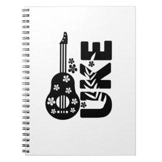 Ukulele Uke Musikfreund-Geschenk lustig Spiral Notizblock