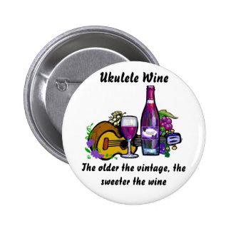 Ukulele-Wein Runder Button 5,1 Cm