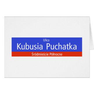 Ulica Kubusia Puchatka, Warschau, polnischer Karte