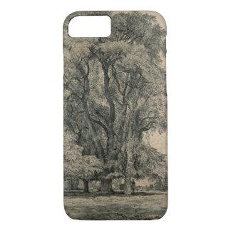 Ulmenbäume in altem Hall parken, OstBergholt, 1817 iPhone 8/7 Hülle
