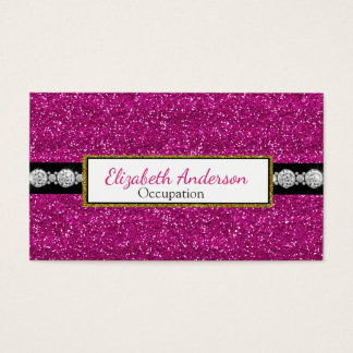 Ultra bezaubernder Digital-Diamant-Rosa-Glitter Visitenkarten