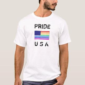 Ultra-weiches Stolz USA-T-Stück (weiß) T-Shirt