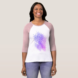 Ultraviolette Blumenblatt-Gruppe T-Shirt