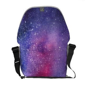 Ultraviolette Galaxiebotetasche Kuriertasche