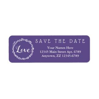 Ultraviolette Hochzeit lila Save the Date