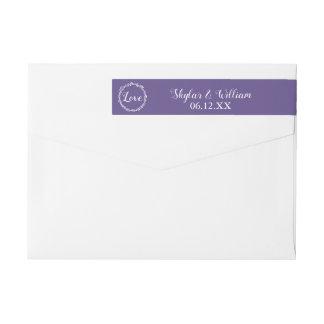 Ultraviolette Hochzeits-einfache süße lila Liebe