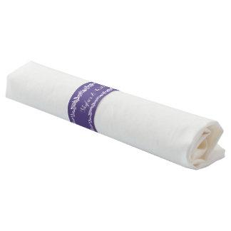 Ultraviolette Hochzeits-einfacher hübscher Serviettenband