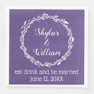 Ultraviolette Hochzeits-einfacher lila Empfang Papierserviette