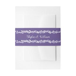 Ultraviolette Hochzeits-einfaches hübsches Lila Einladungsbanderole