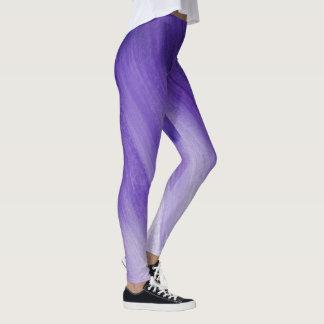 Ultraviolette lila abstrakte Kunstgamaschen Leggings