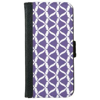 Ultraviolette lila Bell-Blumen-Wiesen-Glockenblume iPhone 6/6s Geldbeutel Hülle
