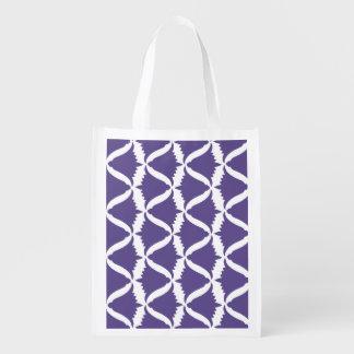 Ultraviolette lila Bell-Blumen-Wiesen-Glockenblume Wiederverwendbare Einkaufstasche
