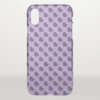 Ultraviolette lila Süßigkeits-Herzen iPhone X Hülle