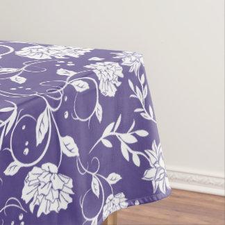 Ultraviolette Poesie-Garten-Blume Tischdecke