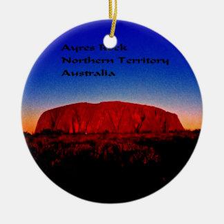 Uluru, eingeborener heiliger Standort Rundes Keramik Ornament