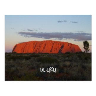 Uluru Sonnenuntergang Ayers Postkarte