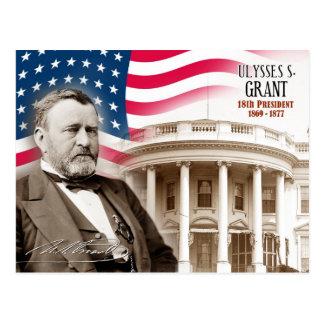 Ulysses S. Grant - 18. Präsident der US Postkarte