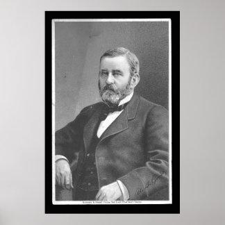 Ulysses S Grant durch großen atlantischen u. Poster