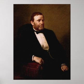 ULYSSES S. GRANT Portrait durch Druck Henrys Ulke Poster