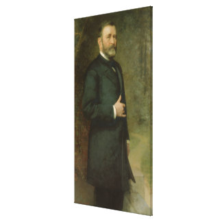 ULYSSES S. GRANT Portrait durch Thomas Le Clear Leinwanddruck