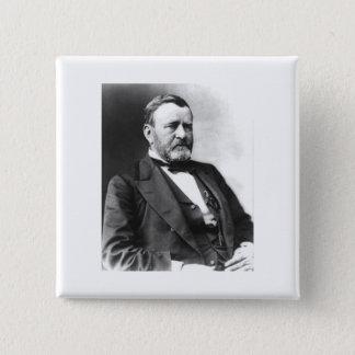 Ulysses S. Grant Quadratischer Button 5,1 Cm