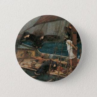Ulysses und die Sirenen durch JW Waterhouse Runder Button 5,1 Cm