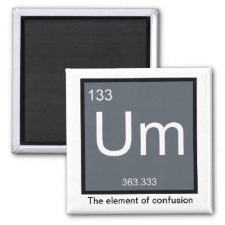 Um, das Element der Verwirrung - Magnet Quadratischer Magnet