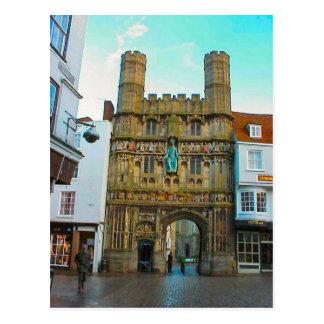 Um Großbritannien    Canterbury-Kathedralentor Postkarten