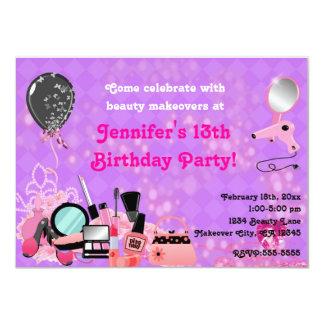 Umarbeitungs-Make-upschönheits-Mädchen-Party Karte
