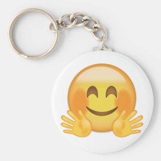 Umarmen des Gesichtes Emoji Schlüsselanhänger