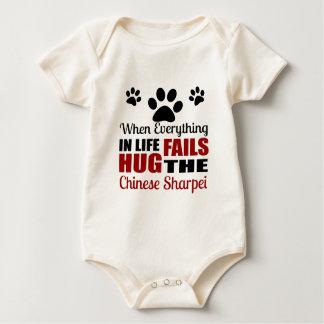 Umarmen Sie den chinesischen Sharpei Hund Baby Strampler