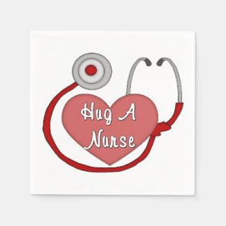 Umarmen Sie eine Krankenschwester Papierserviette