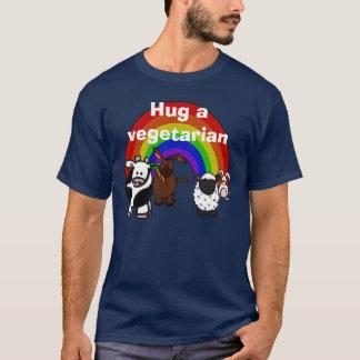 Umarmen Sie einen Veggie-Dunkelheits-T - Shirt