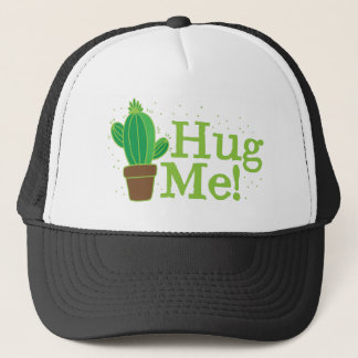 umarmen Sie mich mit Kaktus Truckerkappe