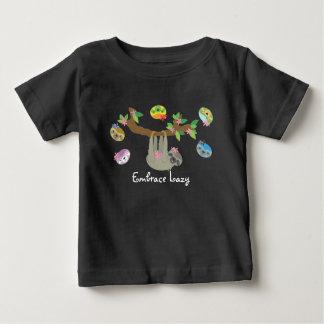 Umarmung faul - Baby-lässiges Shirt (dunkel)
