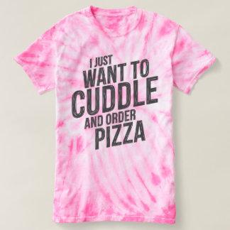 Umarmung und Pizza T-shirt