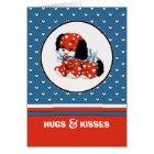 Umarmungen u. Küsse. Karte