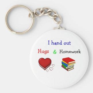 Umarmungen und Hausaufgabenlehrerschlüsselkette Schlüsselanhänger