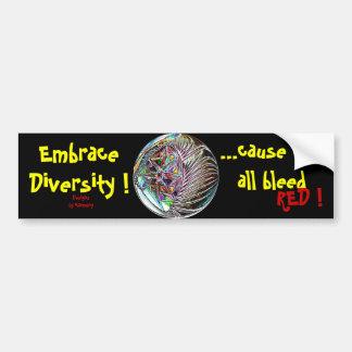 Umarmungs-Diversity! Ursache alle bluten wir ROT! Autoaufkleber