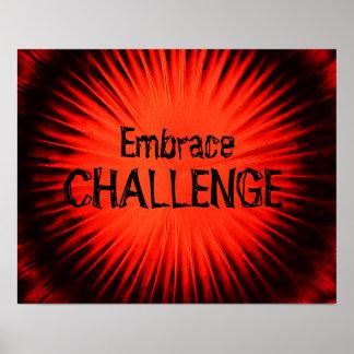 Umarmungs-Herausforderungs-Plakat Poster
