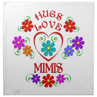 Umarmungs-Liebe Mimis Stoffserviette